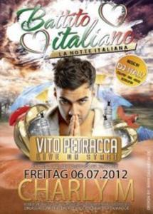 La Notte Italiana: Vito live on stage im Charly M in Nürnberg - 6.Juli!