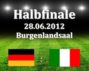 EM-Halbfinale auf Grobildleinwand