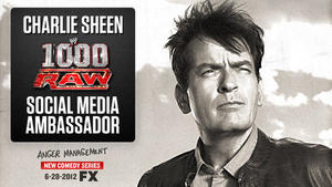 Charlie Sheen als Social Media Ambassador @ WWE RAW