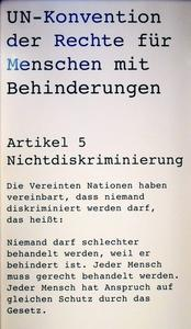 Artikel 5 Nichtdiskriminierung