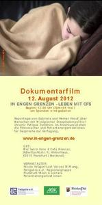 Filmpremiere Dokumentarfilm 'In engen Grenzen - Leben mit CFS'