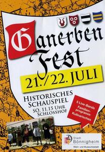 Ganerbenfest + Historisches Schauspiel in Bnnigheim am 21. und 22. Juli 2012