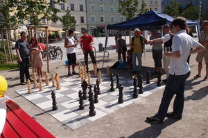 Internationale und FIDE Schachmeister am Hans-Mielich-Platz
