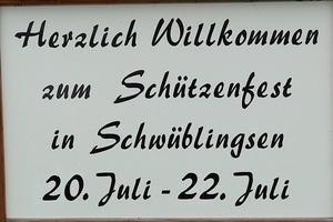 Schtzenfest in Schwblingsen von 20. Juli - 22.Juli 2012