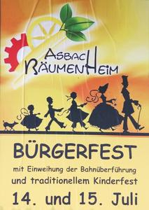 Traditionelles Brger- und Kinderfest Asbach Bumenheim