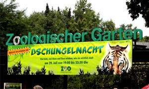 Feuerspektakel bei der Dschungelnacht im Augsburger Zoo