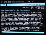 Videotext zu dieser Sendung