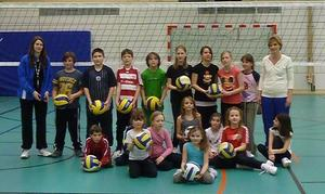 Volleyball Kindertraining beim TV Lauingen