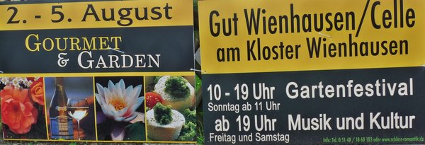 Gourmet & Garden am 2. bis 5. August in Wienhausen