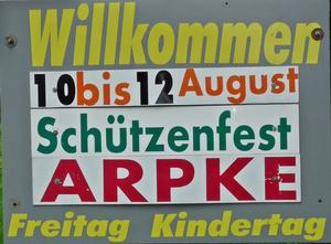 Schtzenfest Arpke vom 10. bis 12. August 2012