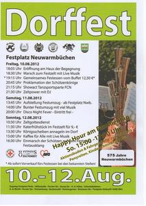 Dorffest in Neuwarmbchen 10. bis 12. August 2012