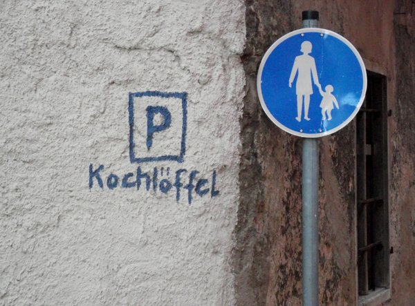 Gesehen in Nrdlingen: Ein Parkplatz der besonderen Art