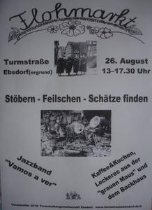 5. Turmstraenflohmarkt in Ebsdorf am 26.08.2012, 13-17.30 Uhr