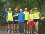 Dirk, Wolfgang, Reiner, Detlef, Jochen, Mandy und Reinhard nach dem Lauf