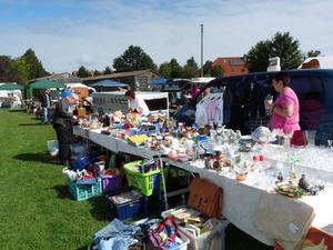 Flohmarkt in Schwblingsen und abends mit Beleuchtung am 1.9.2012