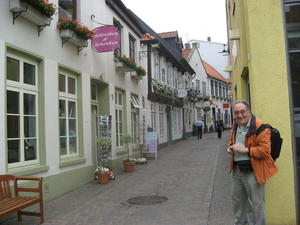 Kleine Gasse in Oldenburg.