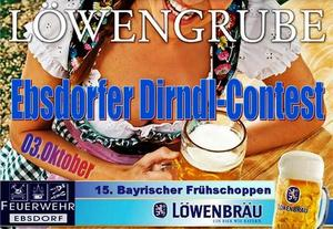 DIRNDL-CONTEST beim Bayrischen Frhschoppen der Feuerwehr Ebsdorf