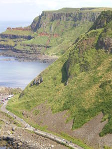Steilkste bei Giants Causeway