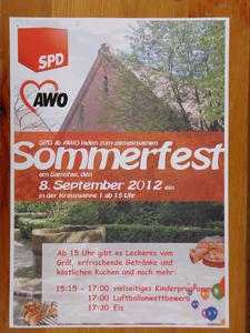 Hochstimmung und hochsommerliches Wetter beim gemeinsamen Sommerfest von AWO und SPD in Engelbostel
