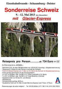 2013 mit der Bahn zum berhmten 'Glacier Express'