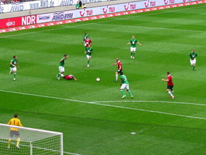 1:0 durch Huszti, beim Heimspiel Hannover 96- SV Werder Bremen
