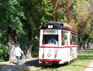120 Jahre Naumburger Straenbahn Teil 4 - Fahrbetrieb bei der Naumburger Straenbahn am Sonntag
