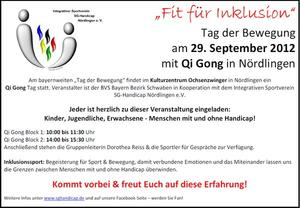 Fit fr Inklusion  der Tag der Bewegung am 29. September 2012 in Nrdlingen