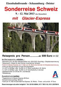 Per Bahn zum Glacier-Express Mai 2013
