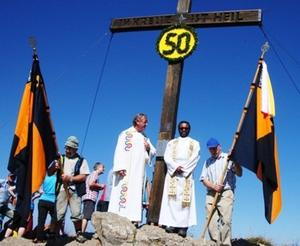 Kolpingsfamilie Scheidegg feiert 50 Jahre Gipfelkreuz auf der Mittagspitze