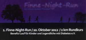 1. Finne-Night-Run / Benefiz-Lauf 2 km Rundkurs am 20. Oktober 2012 in Tauhardt