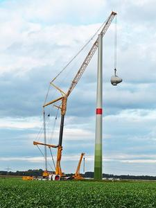 Windradmontage im Windpark Oelerse VII am 2.Okt. 2012 Teil 2