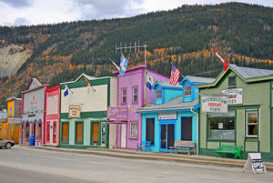 Goldsucher Stadt Dawson City