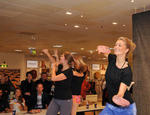 Tanzschau in der Pause: Zumba Fitness