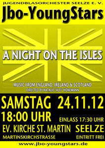 'A Night On The Isles' - Konzert der Jbo-YoungStars in Seelze am 24.11.2012 um 18:00 Uhr