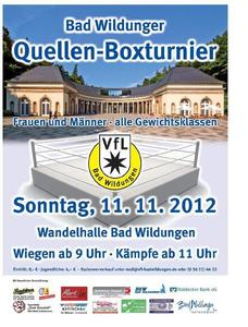 BOXTURNIER am 11.November 2012 in der Wandelhalle BAD WILDUNGEN