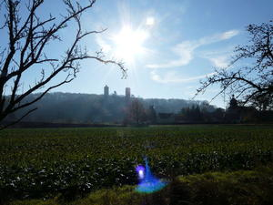 Sonne ber Burg Saaleck