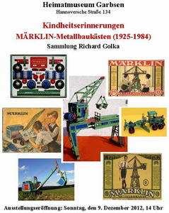 Kindheitserinnerungen  MRKLIN-Metallbauksten (1925  1984)