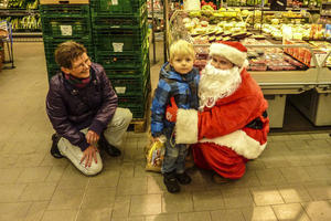 Nikolaus besuchte Edeka Lders in Wennebostel