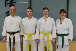 Seelzer Karatekas bestehen Kyu-Prfung