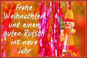 Euch allen eine frohe Weihnacht und einen  guten Rutsch ins neue Jahr.