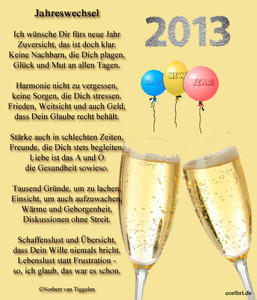 Guten Rutsch ins Jahr 2013