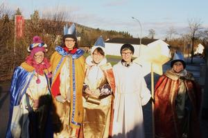 Die Sternsinger aus Donaumnster/Erlingshofen sammeln fr eine ,,Gute Sache'.