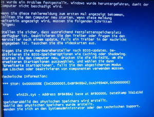 Der garantiert letzte BlueScreen fr 2012  ;-)