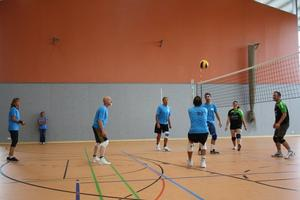 Training der Hobbyvolleyballer Neuburg