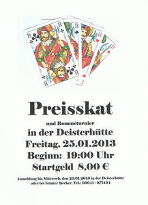 Preisskat in der Deisterhtte