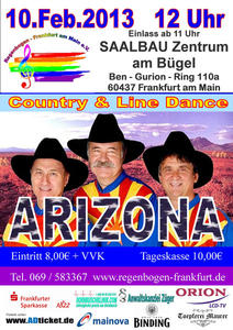 Country & Line Dance Fasnacht – Frühschoppen mit ARIZONA