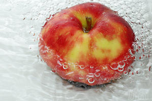 Apfel in Whirpool