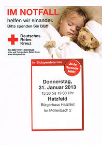  IM NOTFALL  helfen wir einander.  Bitte spenden Sie Blut !