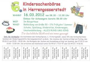 Kindersachenbrse Herrengosserstedt 16.3.2013
