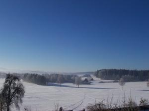 Winterlandschaft in Oberbayern, aufgenommen am 23.01.2013.